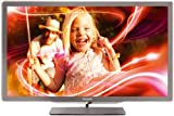 Philips 47PFL7606K/02 119 cm (47 Zoll) Ambilight 3D LED-Backlight-Fernseher, Energieeffizienzklasse A+ (Full-HD, 400 Hz PMR, DVB-T/C/S, Smart TV) silbergrau