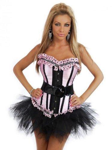 Sexy Corsagenkleid Corsage Kleid Petticoat Tutu Mini Rock