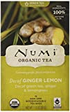Numi Organic Tea Decaf Ginger Lemon Green Tea, 16 Count Tea Bags