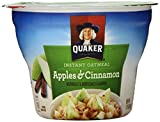 Quaker Instant Oatmeal Instant Oats Express, Apple Cinnamon, 1.51 Ounce (Pack of 12)