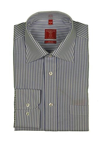 Redmond – Bügelfreies Herren Langarm Hemd gestreift, Stil: Regular Fit (510100)
