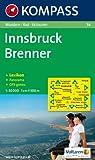 Innsbruck, Brenner: Wandern / Rad / Skitouren. Mit Panorama. GPS-genau. 1:50.000