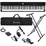 Casio PX-330 Digital Piano STAGE BUNDLE w/ Travel Bag, Stand & Pedals