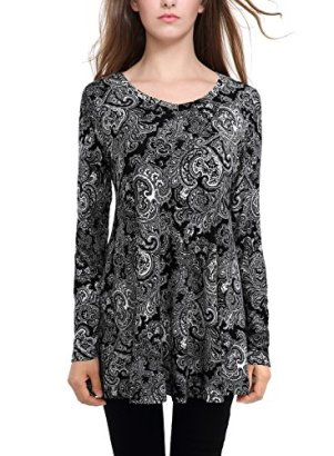 BAISHENGGT-Womens-Flared-Comfy-Loose-Fit-Tunic-Top