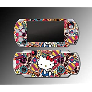 Cute Hello Kitty World Princess Girl game SKIN 8 for Sony PSP