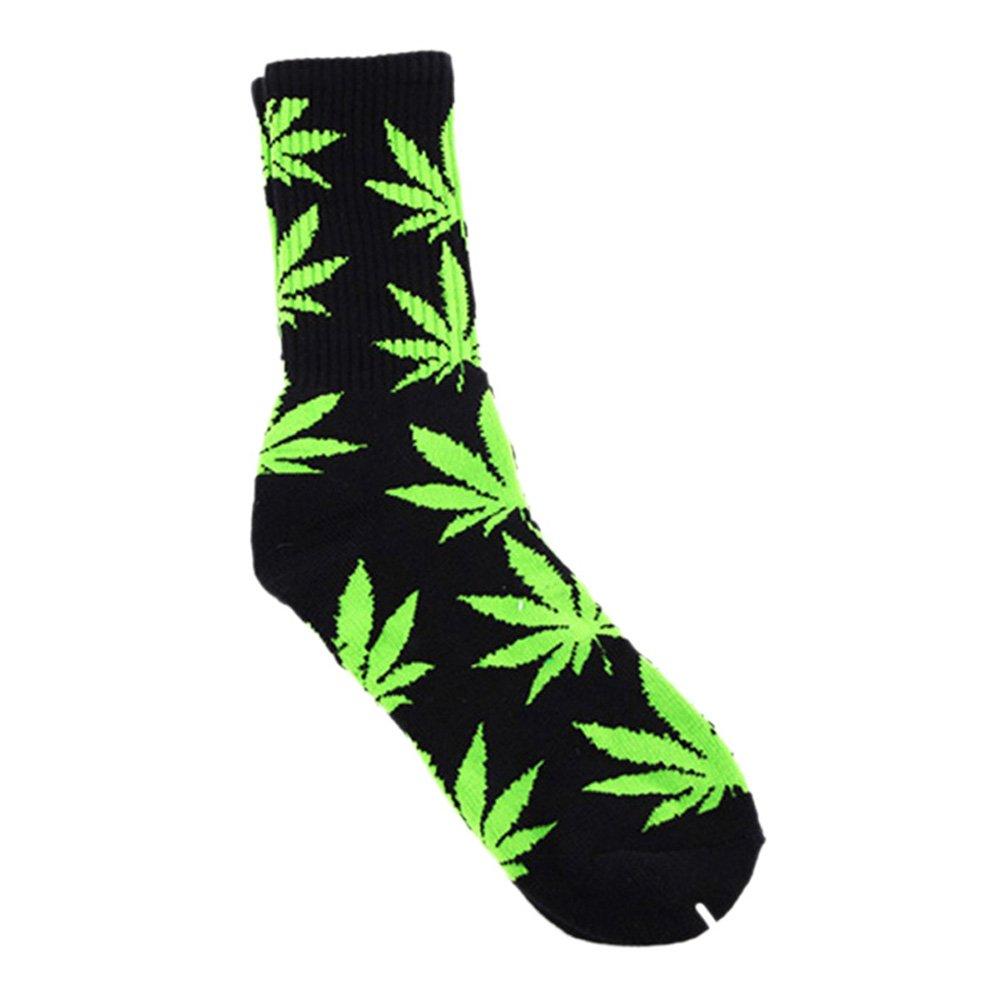 High Crew Socks Marijuana Weed Leaf Cotton Unisex Plantlife Socks