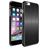 iPhone 6 Plus Case, Maxboost® [Artisan Cases] iPhone 6 Plus (5.5) Case [Lifetime Warranty] Protective Brushed Silver with Scratch Protection Metallic Design [Slim-Fit]with Elegant Color Snap Case for iPhone 6 Plus (5.5 inch) (2014) - Brushed Black / Silver