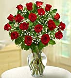 1-800-Flowers - Rose Elegance Premium Long Stem Red Roses - 18 Stem Red Roses