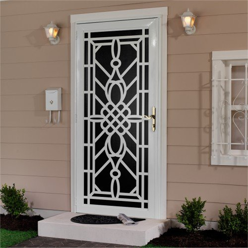 First Alert 30036X80W Mariposa Designer Steel Security Door 36IN X 80IN (White)