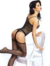 Amoretu-Womens-Striped-Lingerie-Fishnet-Bodysuits-Crotchless-Bodystocking