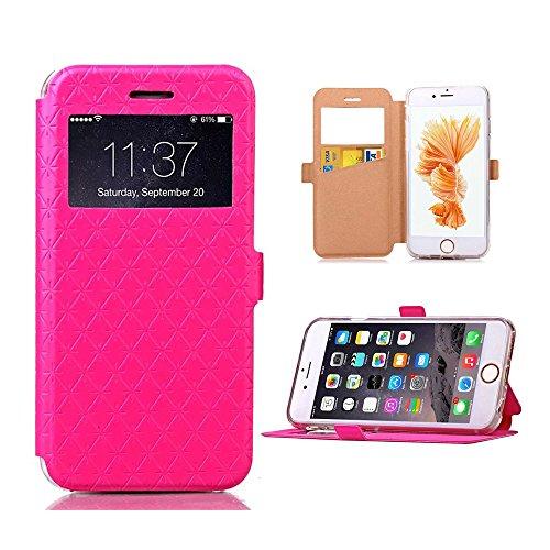 Ceavis IPhone6/Iphone6s ケース 全4色 全4色 手帳型ケース カードホルダー付き スタンド機能付き マグネット吸着 Iphone6s ピンク