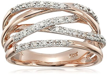 10k-Rose-Gold-Woven-Diamond-Ring-014-cttw-I-J-Color-I2-I3-Clarity-Size-8