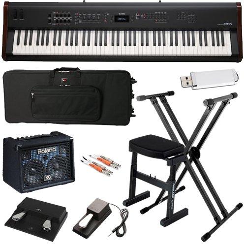 Kawai MP6 Digital Piano STAGE BUNDLE w/ Keyboard Amp, Case & Stand