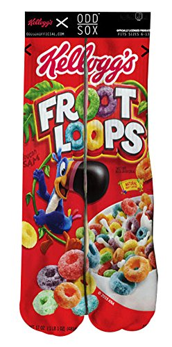Odd Sox Froot Loops Unisex Socks, Size 6-13