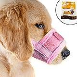 Alfie Pet by Petoga Couture - Matti Adjustable Quick Fit Nylon Mesh Muzzle - Color: Pink, Size: Medium
