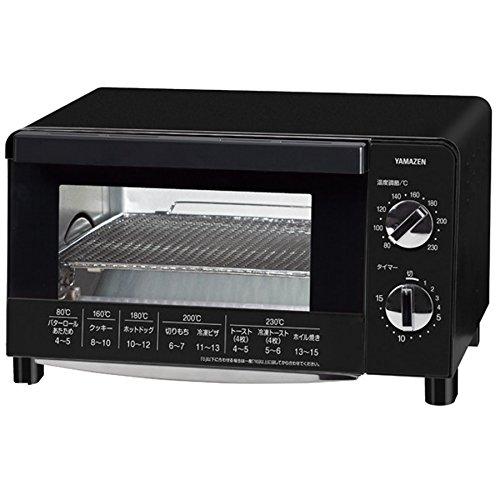 山善(YAMAZEN) オーブントースター 1000W 4枚焼き可能 温度調節機能付 ブラック YTC-FC101(B)