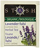 Stash Tea Organic Herbal Tea Bags in Foil, Lavender Tulsi, 100 Count