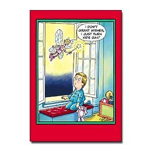 Turn kids gay - Set of 12 Scandalous Cartoon Christmas Cards & Envelopes