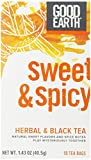 Good Earth Sweet & Spicy Herbal & Black Tea, 18 Count Tea Bags (Pack of 6)