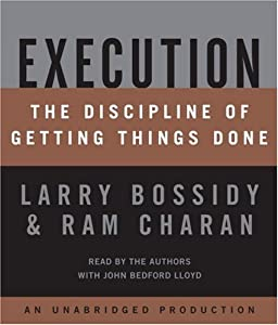 "Cover of ""Execution: The Discipline of Ge..."