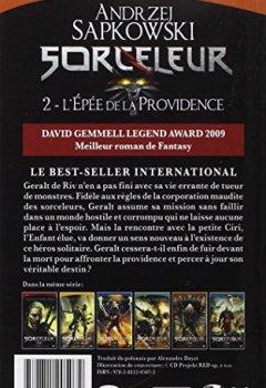 Livres Couvertures de Sorceleur, Tome 2: L'Épée de la providence
