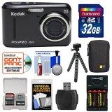 Kodak-PixPro-Friendly-Zoom-FZ43-Digital-Camera-Black-with-32GB-Card-Batteries-Charger-Case-Flex-Tripod-Kit