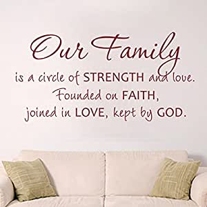 Download Amazon.com - Bible Verse-'Our Family is a Circle of ...