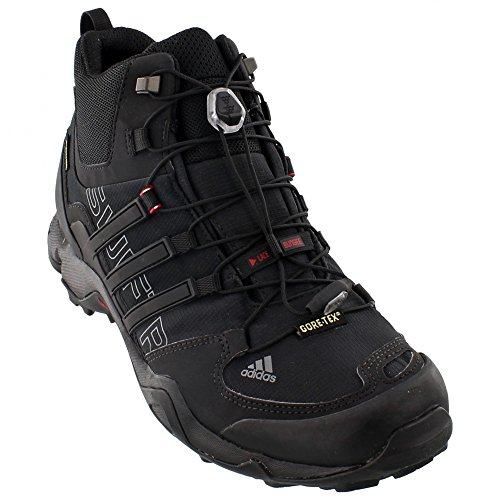adidas Outdoor Terrex Swift R Mid GTX Hiking Boot - Men's Black/Vista Grey/Power Red 11