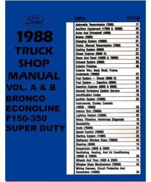 1988 ford truck f150f350 econoline service manual