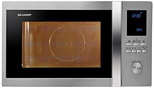Sharp R922STWE Mikrowelle / 1000 W / 32 L Garraum / Grill / silber / schwarz