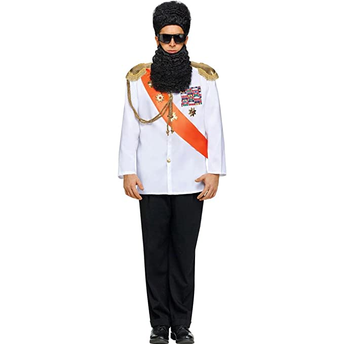 FunWorld Military Jacket Adult Costume, White, One size