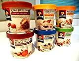 Quaker Real Medleys AUTUMN VARIETY 12 PACK: 2 Bowls of CARAMEL APPLE, 2 Bowls of MAPLE PECAN RAISIN, 2 Bowls of BANANA WALNUT, 2 Bowls OF BLUEBERRY HAZELNUT, 2 Bowls OF APPLE WALNUT OATMEAL, 2 Bowls OF PEACH ALMOND (12 PACK) + FREE 48 count pack of heavy duty PLASTIC SPOONS