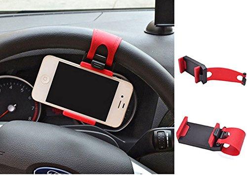 【Alice in Wonder forest】 携帯電話ホルダー (マイクロクロス付) カー用品 車載ホルダー ハンドル ナビホルダー スマートフォン iPhone 便利グッズ iPhone6 iPhone6s Plus iPhone7 スマホ