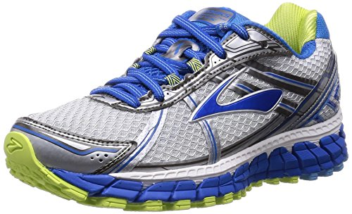 Brooks Women's Adrenaline Gts 15 White/DazzlingBlue/SharpGreen Running Shoe 9 Women US
