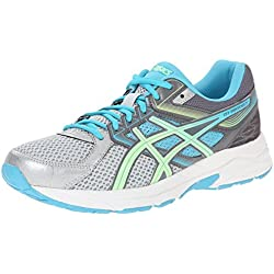 ASICS Women's Gel-contend 3 Running Shoe, Silver/Pistachio/Teal, 6.5 D US