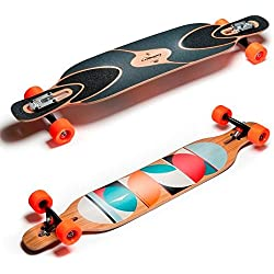 Loaded Dervish Sama Flex 2 New 2015 Graphic Complete Longboard With Paris V2 Trucks, Orangatang Stimulus Wheels