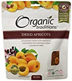 Organic Traditions Dried Organic, Apricots, 8 Ounce