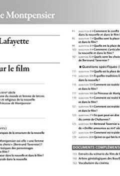Livres Couvertures de Mme de Lafayette/ B. Tavernier, La Princesse de Montpensier: programme de littérature Tle L bac 2018-2019