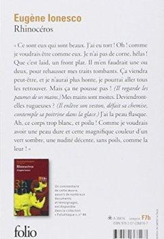 Book's Cover ofRhinocéros
