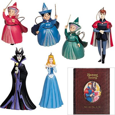 Disney's Sleeping Beauty Storybook Christmas Ornament Set