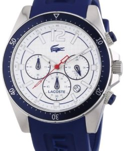 Lacoste  Seattle 2010711 - Reloj de cuarzo para hombre, con correa de silicona, color azul