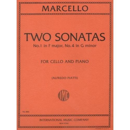 Marcello Benedetto Two Sonatas No1 in F Major and No4 in g minor Cello and Piano - Alfredo Piatti