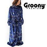着る毛布 グルーニー Groony 2016ver プレミアム 限定デザイン シルキータッチ ミドル ネイティブネイビー