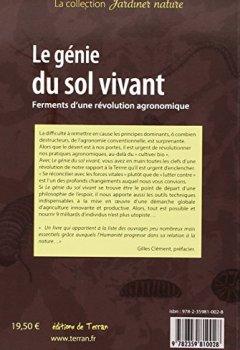 Livres Couvertures de Le génie du sol vivant - Ferments d'une révolution agronomique