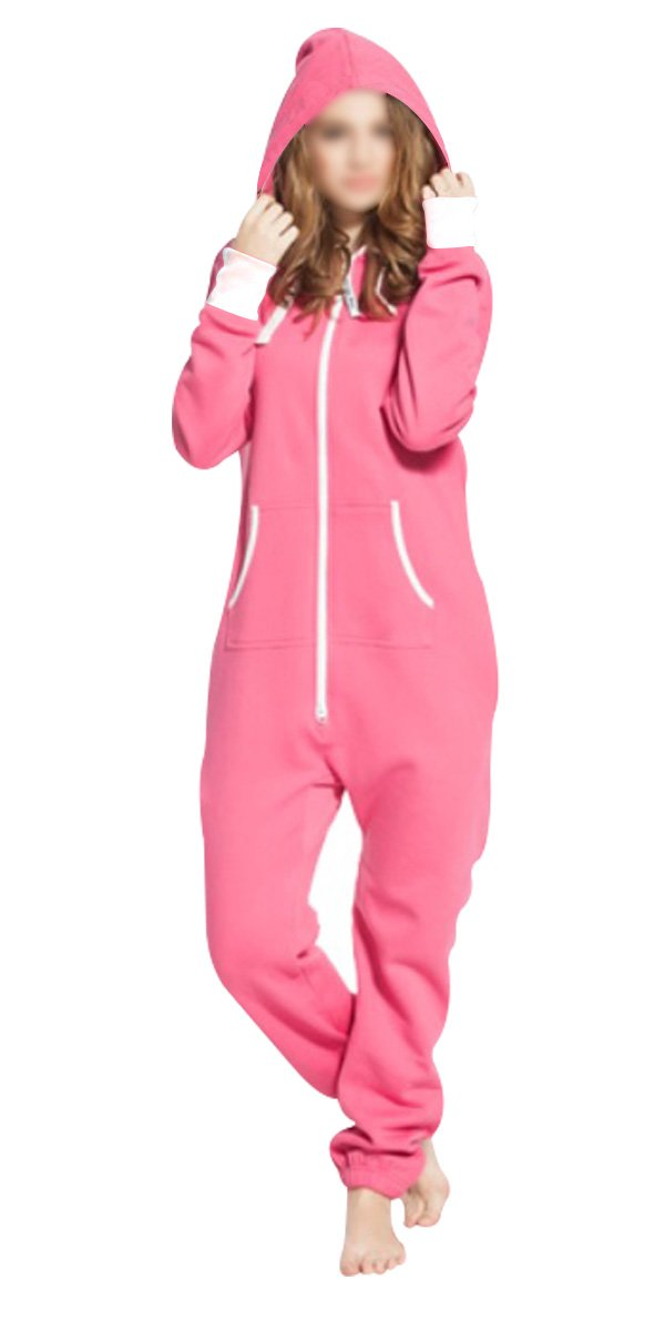 Women's Ladies Onesie Hoodie Jumpsuit Playsuit Pajamas Loungewear