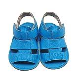 Mejale Baby Schuhe Neugeborenen Nubukleder Sandalen Schuhe rutschfest Kleinkind ersten Wanderer Sommer Schuhe (12-18 Monate/5.51 zoll)
