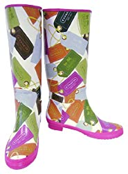 Coach Pammie Signature Hangtag Rain Boots