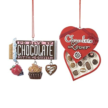 Chocolate Lover Candy Christmas Ornaments