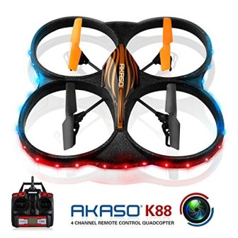 AKASO K88 Drón de 6 ejes con cámara HD y Giroscopio 2...
