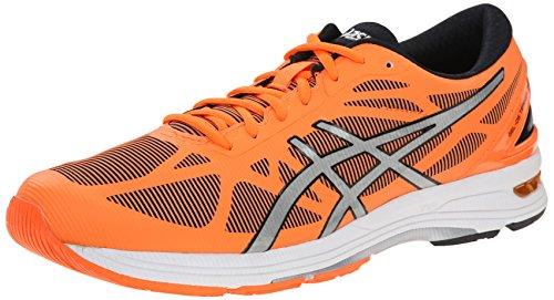 ASICS Men's Gel DS Trainer 20 Running Shoe, Flash Orange/Silver/Black, 12 M US